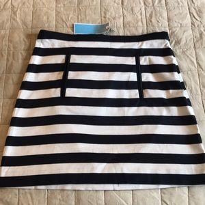 Draper James navy striped mini skirt